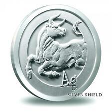 1 oz Silver Shield 2014 Ag BULL .999 BU SBSS