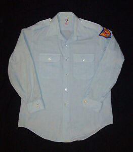 Old-Vintage-1970-s-Vietnam-War-Era-Civil-Air-Patrol-shirt-UNITED-STATES-AIR-FORCE-Flying-Cross-avec