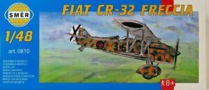 SMER-Fiat-cr-32-italia-biplano-avion-de-caza-kit-1-48-0810-ovp-nuevo