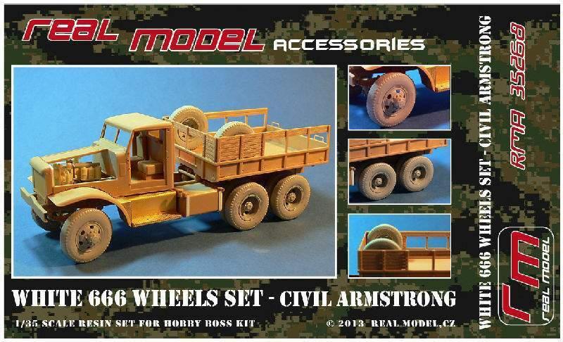 WHITE 666 wheels set Civil Armstrong 1 35 Real Model resin RMA35268