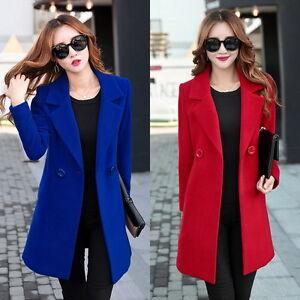 Winter-New-Women-039-s-Woolen-Warm-Long-Jacket-padded-Coat-Outwear-Overcoat-coats