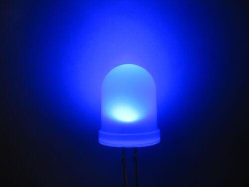50pcs 10mm Blue Round Top Diffused LED Leds 5000mcd 2-pin Bulb Light Lamp New