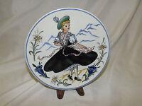 "Vintage Waechtersbach Plate - Dancing Lady 8"" West Germany Dec. 6232"