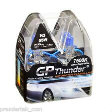 GP Thunder II 7500K H3 Xenon Halogen Light Bulb 55W Pair Super White