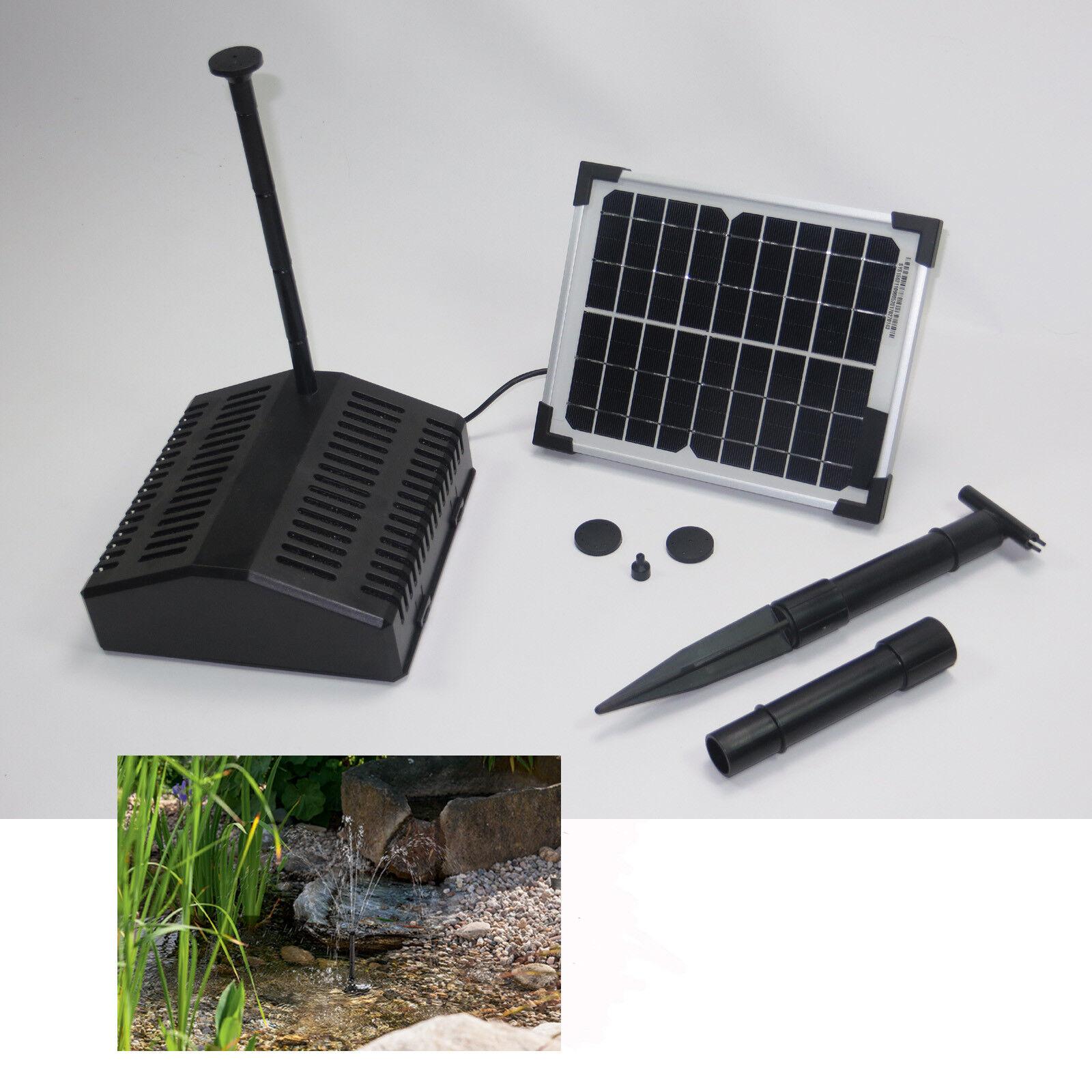 5w solar Tauch bomba estanque pumpenset estanque de jardín filtro surtidor jardín Nuevo