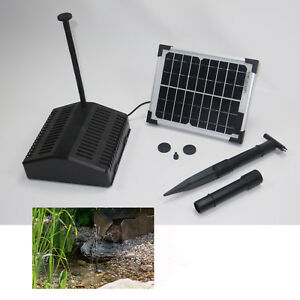 5w solar tauch pumpe teich pumpenset gartenteich filter springbrunnen garten neu ebay. Black Bedroom Furniture Sets. Home Design Ideas