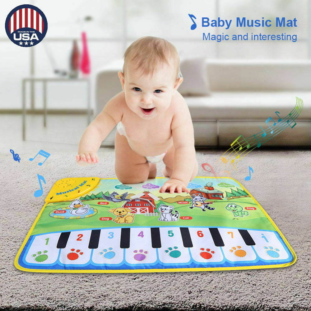 Kids Baby Musical Piano Play Mat Development Educational Soft Toys for Boy 2