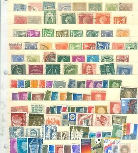 NEDERLAND-LARGE-SET-OF-115-STAMPS-CANCELLED-ALL-IN-GREAT-CONDITION