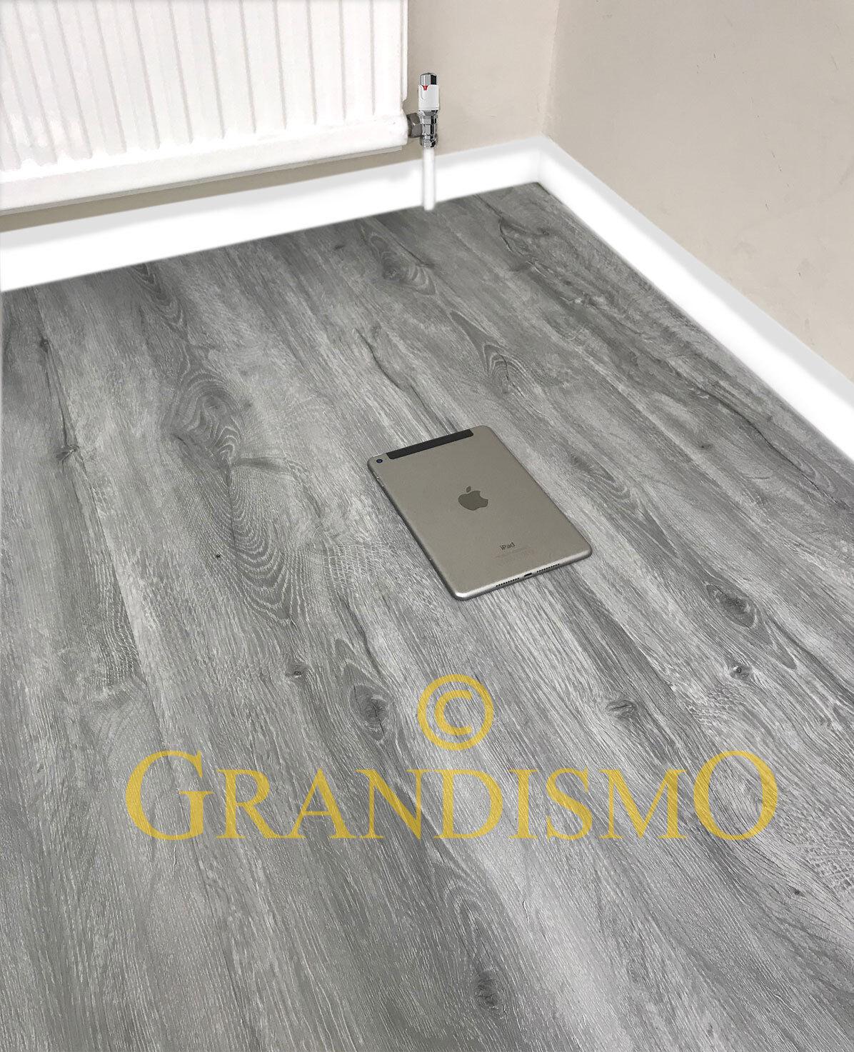 LVT Luxury Click Vinyl Flooring 3% Waterproof Bathroom Grey Planks Oak