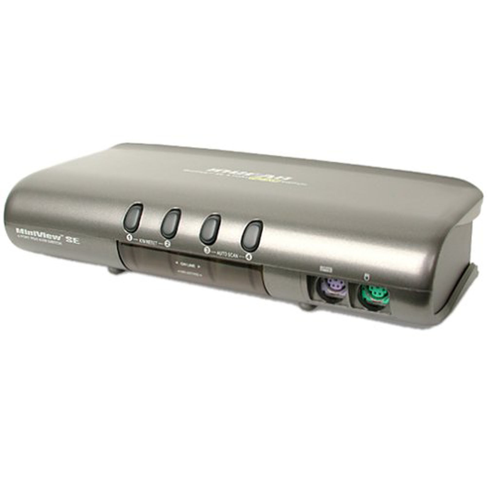 IOGEAR MiniView ™ 4 Port SE KVM Switch Kit Grey – Input Peripheral