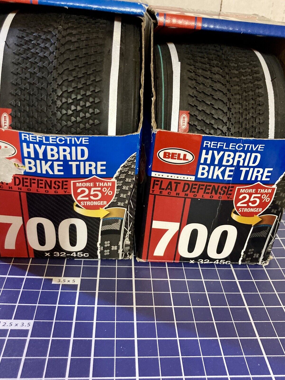 NEW LOT of 2 Bell Reflective Hybrid Bike Tires 700 x 38c Replaces Sz 32mm 45mm