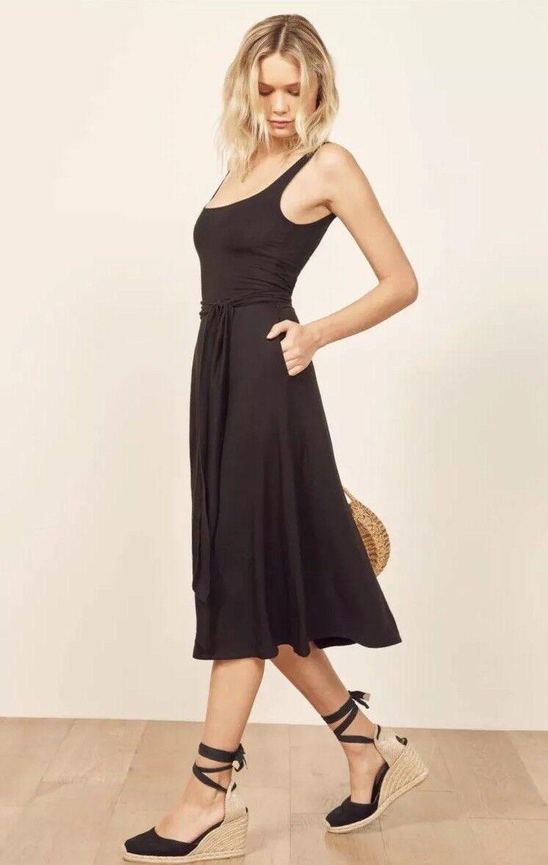 NWT Reformation August Dress In schwarz Größe Xs SOLD OUT