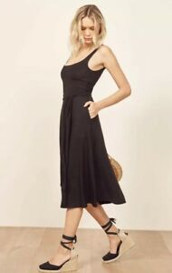 53bf997a26e3 Image is loading NWT-Reformation-August-Dress-In-Black-Size-Xs-