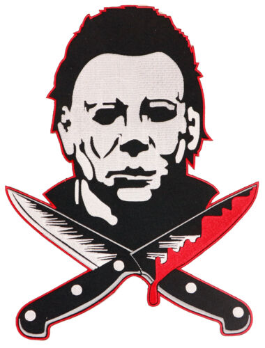 Authentic HALLOWEEN Michael Myers Knives Iron On Back Patch NEW