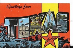 Greetings from texas the lone star state postcard 1940s era ebay image is loading greetings from texas the lone star state postcard m4hsunfo