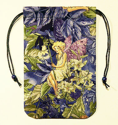 """Fairy Tarot Bag or Drawstring Pouch for Angel Oracle cards 5""""x7"""" - The Guardian"""