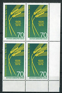 Berlin-516-Eckrand-Viererblock-VB-Ecke-4-postfrisch-Gruene-Woche-1976-MNH