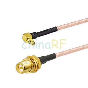MMCX male to MMCX male plug RF Jumper pigtail cable RG174 adapter 20CM 8/""