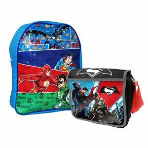 DC Comics Justice League Junior Backpack & Insulated Lunch Bag Set