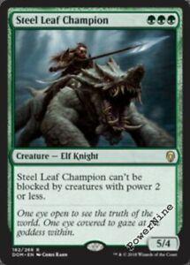 4-Steel-Leaf-Champion-Green-Dominaria-Mtg-Magic-Rare-4x-x4