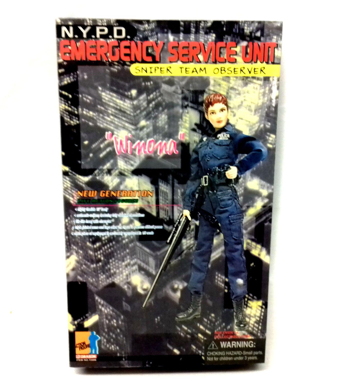 Dragun NYPD SNIPER TEAM OBSERVER Winoa 12  1 6th US Police collector figure toy
