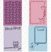 Cricut Cuttlebug Embossing Folders Create A Critter Set Of 4