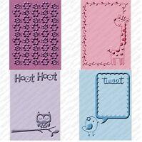 Cricut Cuttlebug Embossing Folders Create A Critter Set Of 4
