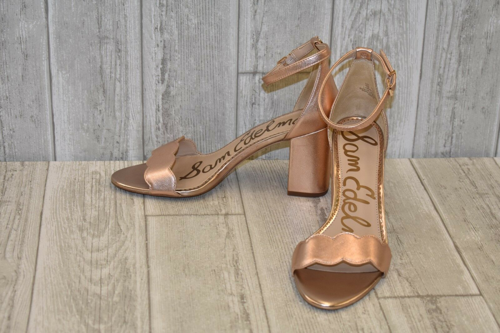Sam Edelman Odila Ankle Blush Strap Heels Donna Size 9 M Metallic Blush Ankle e72b73