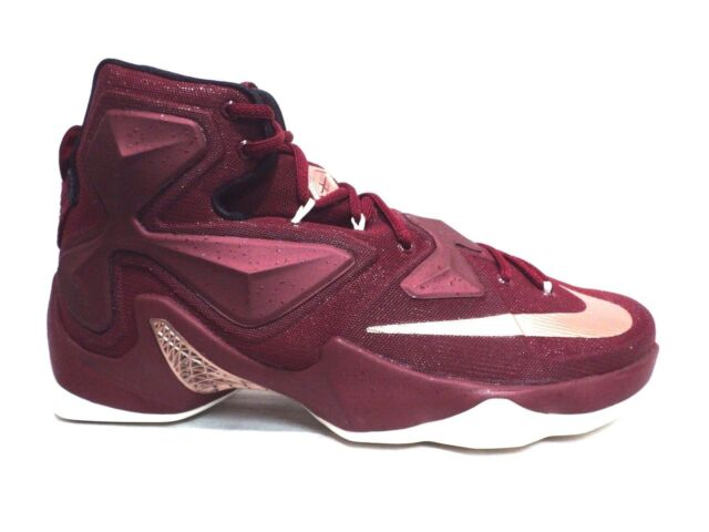 designer fashion 80b6b 6e51b Nike Lebron XIII Cavaliers 13 Men Basketball Shoes Team Red Bronze 16