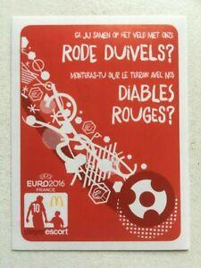 Panini UEFA Euro France 2016 (EM) - Extra Sticker Mc Donalds Belgien / Belgium