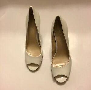 Enzo Angiolini Eamaylie White Peep-Toe Pump. Size 8 M