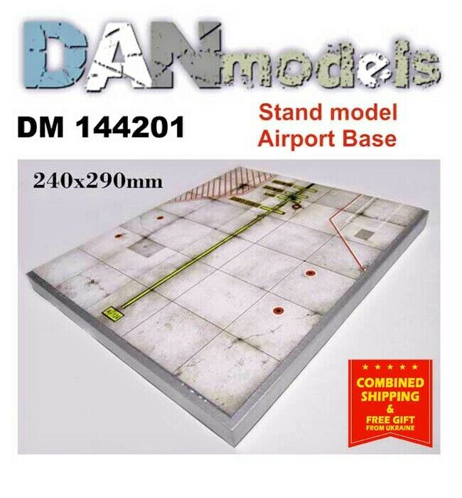 STAND FOR MODELS. SUBJECT  CONCRETE. AIRPORT 240X290 MM 1 144 DAN MODELS 144201