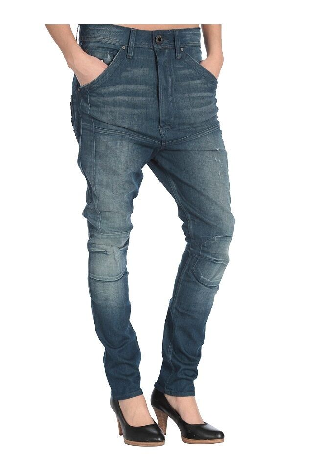 G STAR(42 to 45cm waistband) ROPER LOW X LOOSE TAPERED DAMEN WOMEN JEANS W28 L3