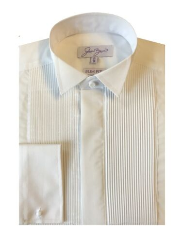 SLIM FIT EVENING DRESS SHIRT PLEATED WING COLLAR