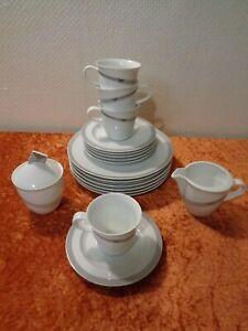 18-PC-Convolute-Coffee-Rosenthal-Studio-Line-Design-Vintage-around-1980