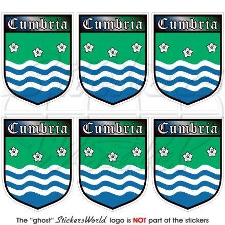 Aufkleber 40mm x6 CUMBRIA County Schild ENGLAND UK Handy Vinyl Mini-Sticker