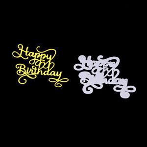 Stanzschablone-Happy-Birthday-Weihnachts-Hochzeit-Oster-Geburstag-Album-Karte