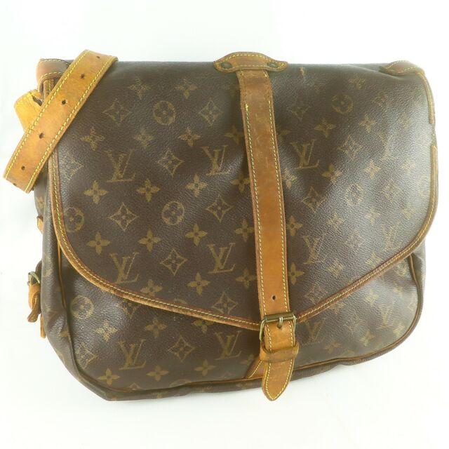 Auth LOUIS VUITTON SAUMUR 35 Crossbody Shoulder Bag Purse Monogram M42254 Brown