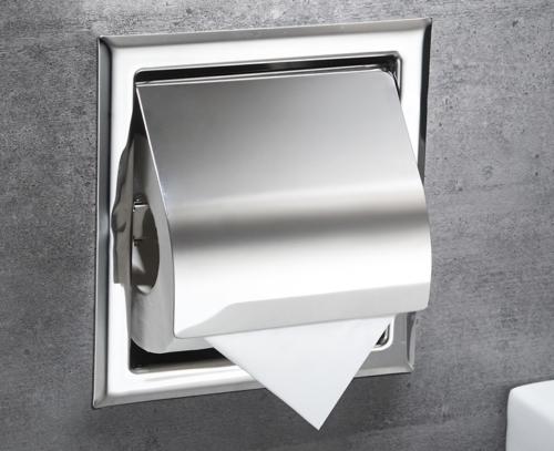 Stainless Steel Bathroom Toilet Paper Holder Roll Tissue Box Wall Holder NEW.