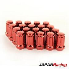 JAPAN RACING Stahl Lug Nuts M12 x 1.25 Radmuttern ROT 20 Stück