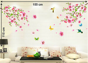 6900016 | Wall Stickers Flowers Branch Living Area Decoration