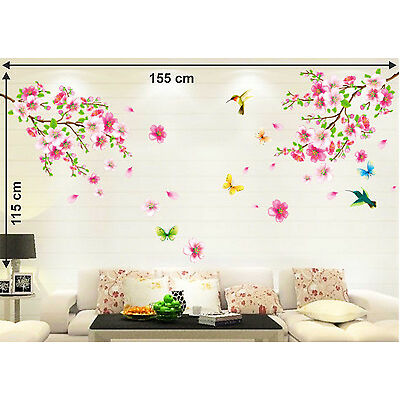 6900016 Wall Stickers Flowers Branch Living Area Decoration