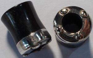 9mm inlay white horn tribal design  horn plug