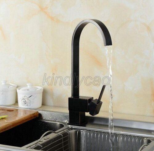 Black oil Antique Brass Swivel Kitchen Sink Faucet Mixer Basin Tap Khg002