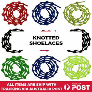 No Tie Shoelaces Knotted Elastic Shoe Lace Kids Adult Sneakers Runners Unisex