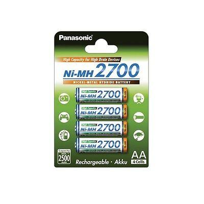 4x Panasonic High Capacity Akku AA NiMH Mignon Akku - 2700mAh (BK-3HGAE/4BE)