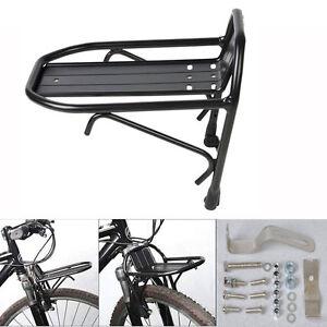 Aluminum-Alloy-Bike-Bicycle-Front-Rack-Luggage-Shelf-Panniers-Bracket-Mount-New