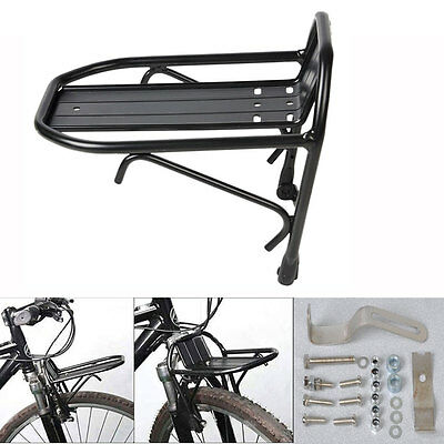 Bicycle Front Rack Aluminum Alloy Bike Luggage Shelf Carrier Panniers Bracket
