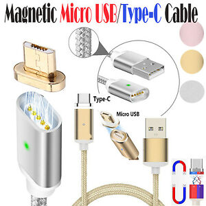 Magnetic Type-C /USB Fast Charging Charger Cable Cord for Samsung Galaxy S8 Plus