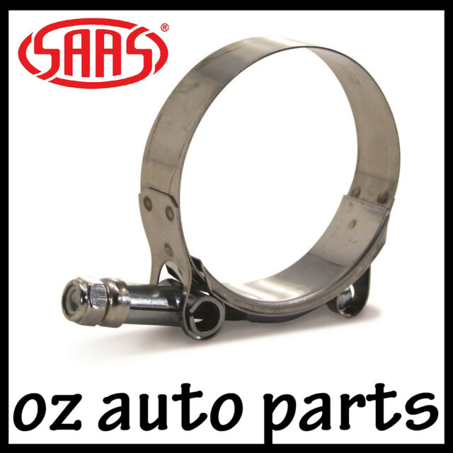 SAAS SILICONE HOSE CLAMP T-BOLT STAINLESS STEEL 64MM x 2.5 INCH - HIGH QUALITY
